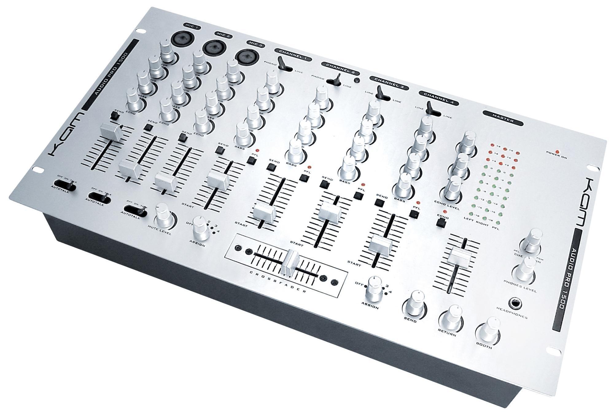 DJ mixer repair KAM 1500 Stock image