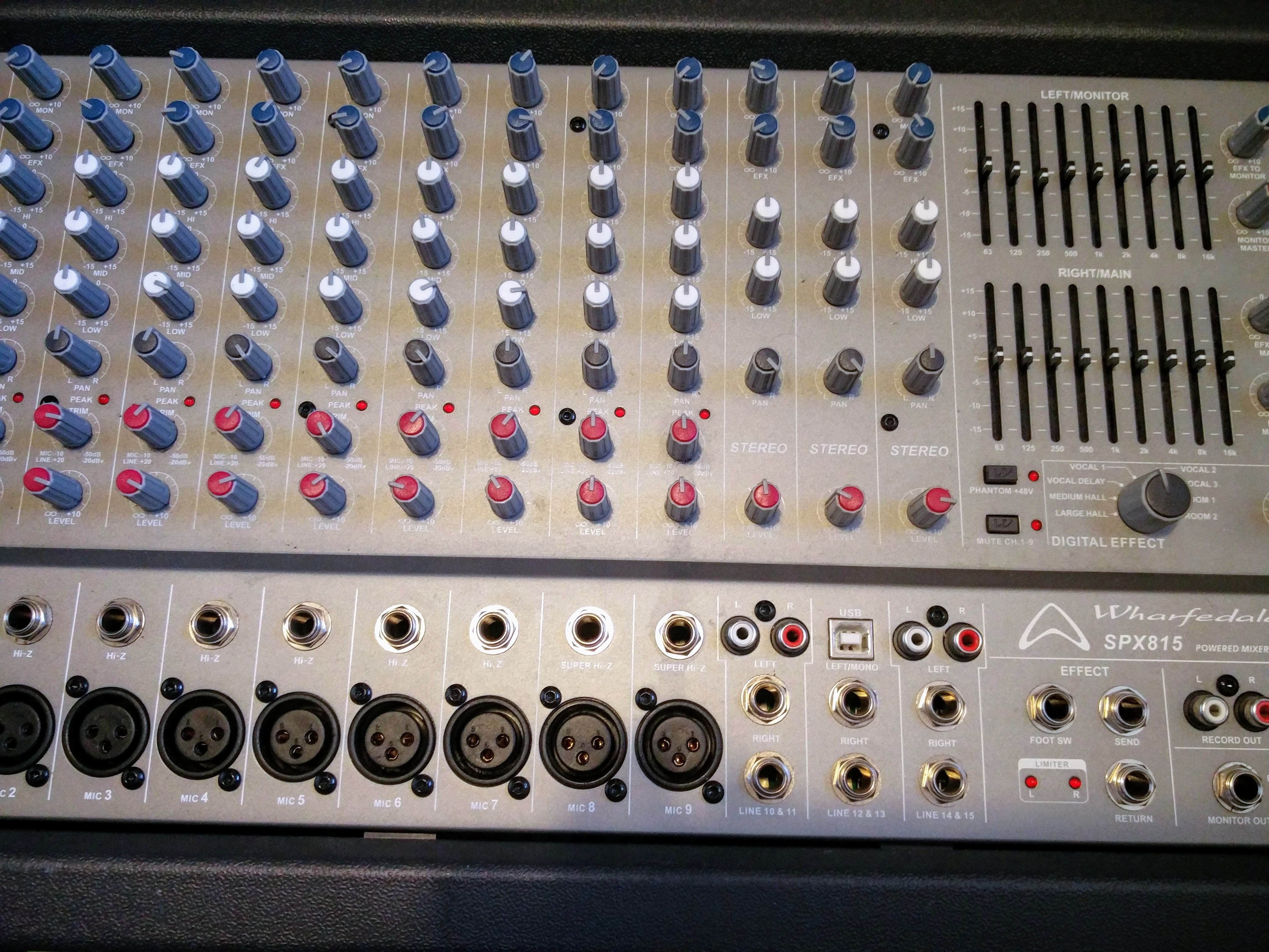 powered mixer repair wharfedale spx815 powered mixer